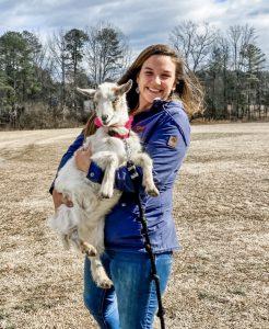 kati holding goat